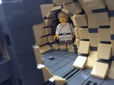 Inspecting the progress Lego Falcon, Lego Millenium Falcon, Legos, Lego Lego, Lego Ship, Lego Spaceship, Amazing Lego Creations, Brick Loft, Lego Modular