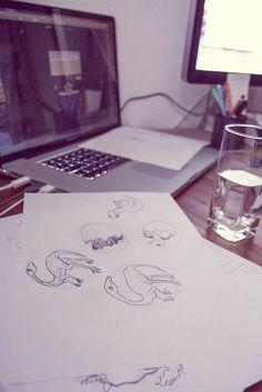 Dino sketches.