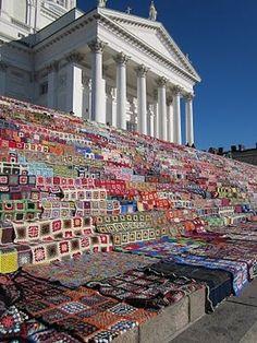 Granny square blanket-World record in Helsinki(biggest blanket)