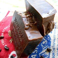 Handmade Brazilian Coffee Scrub Soap with Cocoa Butter -Coffee Bar Soap-With A Hint Of Pure Cinnamon Oil Natural Coffee Soap, Kona Coffee, Coffee Scrub, Fresh Ground Coffee, Cinnamon Oil, Beauty Soap, Cocoa Bar, Soap Maker, Soap Recipes
