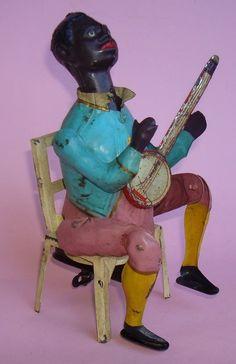 """*GUNTHERMANN ~ """"Black man w/Banjo"""", c. 1910."""
