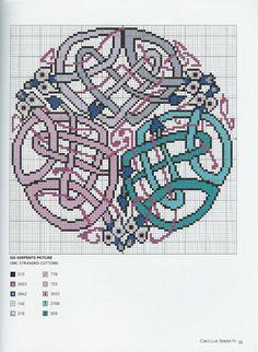 """Borduurpatroon """"Overig"""" Kruissteek *Embroidery Cross Stitch Pattern ~Keltisch *Celtic1~"""