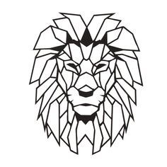 Cheap Plaques & Signs, Buy Quality Home & Garden Directly from China Suppliers:Antdecor Lion Head Metal Wall Art L, World Map and World Themed Wall Decor x 16 Geometric Lion, Geometric Drawing, Geometric Wall, Geometric Shapes, Metal Wall Decor, Metal Wall Art, Lion Origami, Wood Carving Art, Lion Tattoo