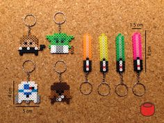 Star Wars Keychains, Magnets and Pins Made From Perler Beads