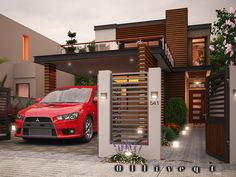 This is a two storey Contemporary house design which speaks elegance and sophistication considering the attention paid in the exterior details and choice of materials used in the construction of the building. This design truly illustrates the meaning of modern architecture as can be seen from the exterior layout and presentation. As seen on interiordesiign a