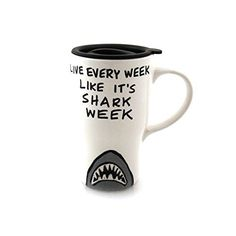 Handmade gift Shark Week Travel Mug -- More info could be found at the image url.