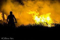 Fire. Boa Vista. Brazil.