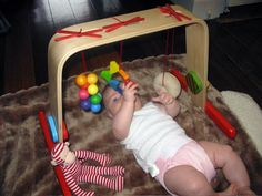Ikea wooden baby gym modification