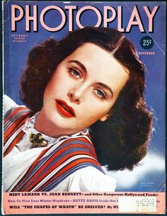 Magazine photos featuring Hedy Lamarr on the cover. Hedy Lamarr magazine cover photos, back issues and newstand editions. Star Magazine, Movie Magazine, Hollywood Magazine, List Of Magazines, Joan Bennett, Grapes Of Wrath, Dantes Inferno, Hedy Lamarr, Black Dragon