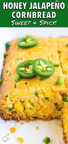 17 reviews · 45 minutes · Vegetarian · Serves 12 · Jalapeño Cornbread is the best recipe for homemade cornbread and is loaded with bites of sweet kernel corn, diced jalapeños, and a hint of honey. This healthy side dish is simple to make and can… Healthy Cornbread, Honey Cornbread, Jalapeno Cornbread, Homemade Cornbread, Quick Bread Recipes, Honey Recipes, Side Dish Recipes, Side Dishes