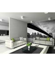 Buy 1Wall New York Bridge and City Wallpaper Mural at Argos.co.uk - Your Online Shop for Wallpaper, samples, borders and wall stickers.