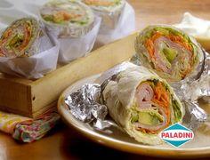 Un almuerzo sano para que lleven los chicos al colegio o vos a la oficina. ¿Si preparás unos Rolls frescos de jamón y vegetales para mañana?