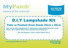 "8"" DIY Lampshade Kit Table or Pendant Drum Shade"