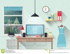 Creative Office Workspace Of Blogger - Download From Over 44 Million High Quality Stock Photos, Images, Vectors. Sign up for FREE today. Image: 49666628