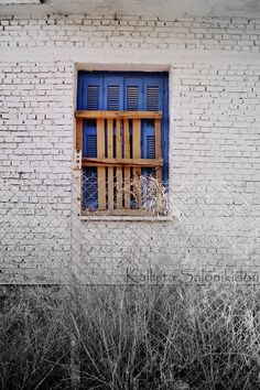 Old Blue Greek Rustic Window  Cottage Chic Wall Decor  http://www.etsy.com/shop/KallistaSalon