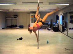 Pole Dance Tutorial with @Mina Mahmudi Mahmudi Mortezaie: her favorite new pole combo