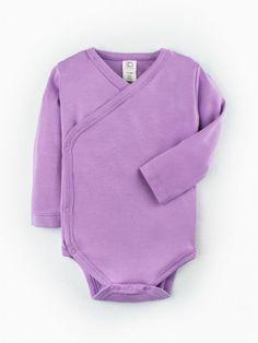 Organic Classic Kimono Baby Bodysuit - Long Sleeve - Petunia Organic Baby eeea21c88