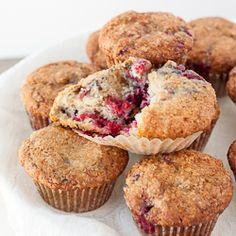 Lemon Raspberry Yogurt Muffins HealthyAperture.com