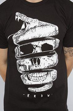 KR3W - skull T-shirt