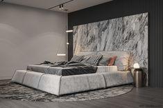 Interior design studio based in Kiev, Ukraine Modern Classic Bedroom, Modern Master Bedroom, Luxury Bedroom Design, Master Bedroom Design, Houses In Poland, Marble Bedroom, Marble Interior, Interior Design Studio, Luxurious Bedrooms