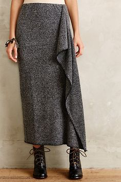 Draped Sweaterknit Maxi Skirt - anthropologie.com #anthrofave