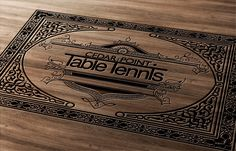 Cigar Box art design for table tennis company by Neonicus