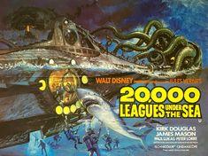 Leagues Under the Sea Poster Movie B 11 x 14 In - x James Mason Kirk Douglas Peter Lorre Paul Lukas Robert J. Kirk Douglas, Monster Book Of Monsters, Sea Monsters, Famous Monsters, Walt Disney, The Sea Movie, Movie 20, Movie Blog, Movie Props