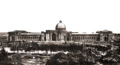El Palacio de la Industria y de las Artes en 1887. En 1910 el Museo de Ciencias Naturales se instalará en una parte de él