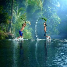 Water Games in #Bogor, #Indonesia by ipoenkgraphic #traveltheworld #ctrip #children #fun
