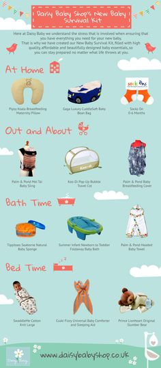 An infographic featuring key new baby essentials that all parents will need during baby's first few months. Baby Survival Kits, Baby Blog, Baby Hacks, Baby Essentials, What Is Life About, Our Baby, Breastfeeding, New Baby Products, Daisy