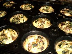 Egg and Turkey Mini Muffins. Easy and healthy and I won't have to get up and cook my eggs every morning!