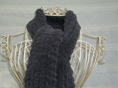 Hand Knit Women's Scarf  Grey  Winter Fashion  Ready by Shelly6262, $46.95