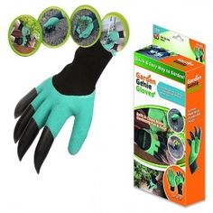 Garden Genie Gloves Latex / Nylon Imported Fully Waterproof and Flexible design One Size Fits Most Gloves contain natural rubber latex Puncture Resistant To Protect your hands Built in Claws make gardening fun & easy