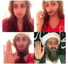 #MakeupTransformation Osama Bin Laden