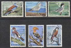 Cyprus Stamps SG 334-39 1969 Birds - USED
