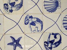 Handmade tiles can be colour coordinated and customized re. shape, texture, pattern, etc. by ceramic design studios Portuguese azulejos