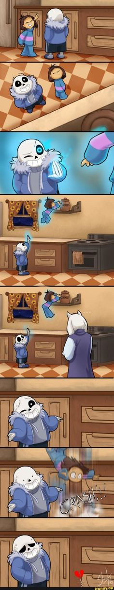 undertale, sans, frisk. Well, we know who took the cookies from the cookie jar. Eh-heh.  . . Oops