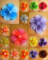 květy z papíru návod