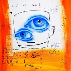 "Saatchi Art Artist Jan-Hein Arens; Drawing, ""Look at me"" #art"