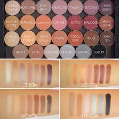 Make Up Geek eyeshadow swatches
