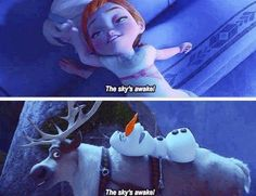 "I thought of this too!! So this would also go along with the theory that Olaf (created by none other than Elsa) is Anna's ""protector"". It's almost like he remembers/knows everything about Anna. :)"