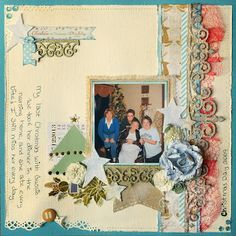 Layout created using the Frosted Designs December Mixed Media Paper Kit frosted-designs.com