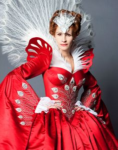 Julia Roberts wears a design by Eiko Ishioka as the evil queen in Mirror Mirror (Snow White), due for release March 2012