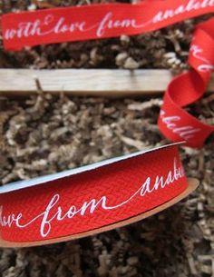 Custom Calligraphy Ribbon