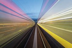 Station lights speeding past your eyes, blurry track as the train gathers speed. Urban bustle at its bustliest Art Prints For Sale, Fine Art Prints, Framed Prints, Canvas Prints, Light Trails, Art Sites, Bustle, Urban Art, Great Artists