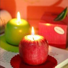 apple box fruit candle
