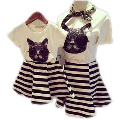 Cheap dress point, Buy Quality dress up plain dress directly from China dress asos Suppliers: 2017 Family Clothes Sets Matching Mother And Daughter Set Cotton Short-Sleeve T-Shirts Fashion Striped Mother Daughter Dresses Mom Daughter Matching Dresses, Mother Daughter Outfits, Matching Family Outfits, Matching Clothes, Mom Dress, Dress Set, Matches Fashion, Stripe Skirt, Striped Dress