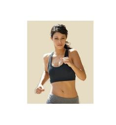 Sports Bra Workout Exercise Gym Bra by Fitness Etc.. $24.99. 90 % Cotton 10% nylon/spandex racerback sport bra. Double layered for extra support.. Small 30-32, Medium 32-34, Large 34-36. cotton. Racer Back Sport Bra Nylon Lycra Sports Bra. Exercise Athletic Workout Gym Sports Bra. 90/10 nylon/spandex racerback sport bra. Double layered for extra support.  Racer Back Sports Bra