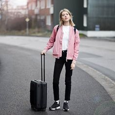 """""""A magnificent creation."""" Check out Swedish blogger, Ebba Zingmark's beautiful feature on our sleek Cabin Trolley. #LetsGoTogether Studios, Cabin Bag, Videos, Travel Photography, Bomber Jacket, Instagram, Check, People, Jackets"""