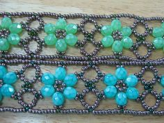 Beaded Flower Bracelet  this is part one.  For the assembly instructions look for part two.